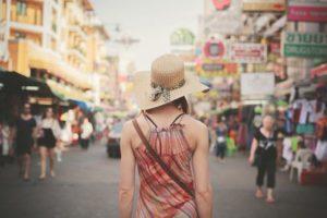 Backpacker auf Reisen