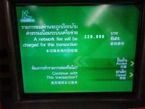 Fremdgebühren in Thailand
